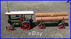 Mamod Steam Tractor & Log Hauling Trailer Steam Engine