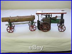 Mamod TEIA Steam Engine Powered Tractor with Lumber Wagon Vtg England