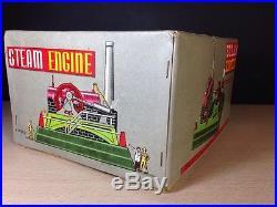 Marx Steam Engine J 2734 R With Box Operative Accessories Japan Tin Vintage