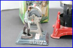 Marx Vertical Steam Engine Tin Toy with 3 operative Accessory tools 4 pc. Set