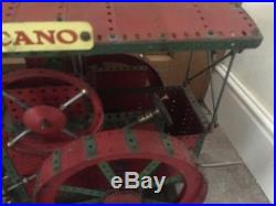 Meccano Steam engine. Shop Display Red/green