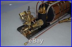 Microcosm Q2 V-twin cylinder steam engine+ Boiler + Tank