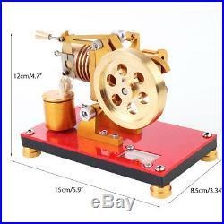 Mini Hot Air Stirling Engine Model Generator Motor Education Toy Steam Power Kid