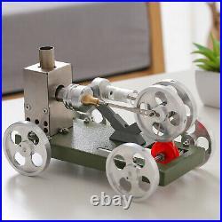 Mini Hot Air Stirling Engine Model Motor Steam Power Car Model Educational Toy