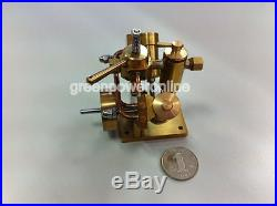 Mini Hot Live Steam Engine Twin Cylinder Marine Model education Toy BJ002 CA