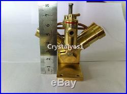 Mini Hot Live Steam Engine Twin Cylinder Marine Ship education Toy Kit BJ002