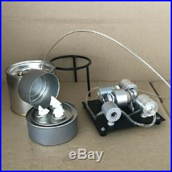 Mini Steam Engine Motor Toy with Boiler Steam Heating Electricity Generator Motor