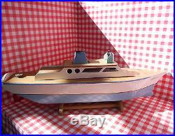 Model Turbine Live Steam Powered Turbine Boat Kirbina Hull engine toy