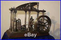 Model live beam steam engine, Watt with the regulator