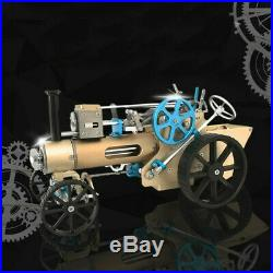 NEW Teching DM34 Steam Car Model Stirling Engine Full Metal Model Toy Collecti