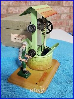 NIB Vintage 1950's Fleishmann Drive Model 237 Water Well Steam Engine Toy