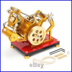New Flame Flicker Eater SOHC Motor Stirling Engine Steam Power Model Toy