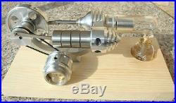 New LED Stirling Engine Steam Engine Model Educational Toy Kits KM01