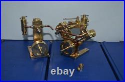 New Twin Cylinder Steam Engine+SINGLE CYLINDER LIVE STEAM ENGINE(2 sets)