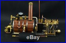 New Two-cylinder steam engine Live Steam with Steam Boiler With P5
