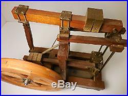 Old / Vintage Live Steam Engine Toy Model Kit Brass, Wood Antique