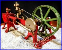 Old Antique Early Kenton Cast Iron Corliss Toy Steam Engine Vintage Motor Model