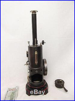 Old Antique LARGE Live Steam Engine BING early 1900's Dampfmaschine Runs well