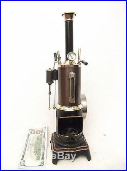 Old Antique LARGE Live Steam Engine Ernst Plank early 1900's Dampfmaschine
