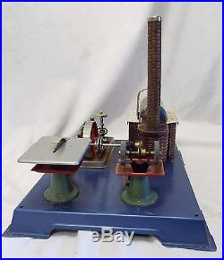 Old Antique WILESCO W. Germany STEAM ENGINE TOY with 2 Boxes Dry Fuel STEAMPUNK
