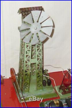 Old Drive Model Plate Operating Model Workshop Steam Engine Steamtoy Motor