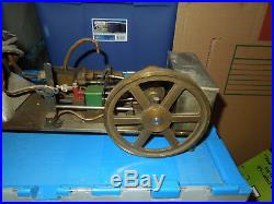 Old Steam Engine Cast Brass Copper Toy Antique Collectible Model Working Order