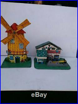 Old Vintage Tin Metal Accessories For Steam Engines Toy Windmill Germany 1950