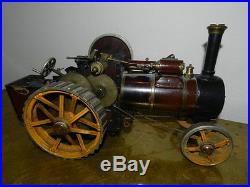 Old antique c. 1900 Steam Engine Early Tractor Model Toy