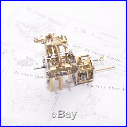 Practical Mini V4-Steam Engine Model with Reverse Gearbox without Boiler Toy Set