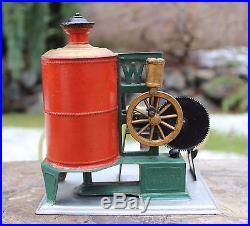 RARE 1890s Weeden FAVORITE Force Pump Upright Steam Engine Tin & Cast Iron Toy