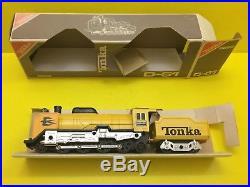RARE Japan Made TONKA D51488 STEAM ENGINE CAR & RAIL/ COAL-CAR TRAIN (D-51 6252)