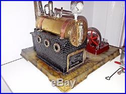 RARE Josef Falk-Bing Werke Steam Engine With JF/BW Label. 20's Germany