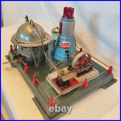 RARE VINTAGE 1950s MARX LINEMAR ATOMIC REACTOR STEAM ENGINE 4 parts/repair Nice