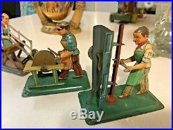 RARE VINTAGE WILESCO Steam Engine Toy Tin Accessory W Germany (4) pics