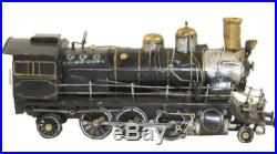 RETRO STYLE COLLECTIBLE METAL TRAIN STEAM ENGINE (MAN CAVE/OFFICE)