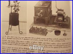 R. F. Benham of London Live Steam Engine Tin Toys Vapeur Dampfmaschine turbine