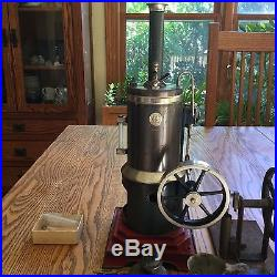 Rare 1915 Marklin Vertical Live Steam Engine Plus Simplex Air Pump (Gill Mfg.)