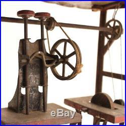Rare Antique Toy Steam Engine Line Shaft Factory Accessories c. 1880s Working