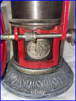 Rare Ernst Plank Ideal Vertical Cylinder Brass Boiler Ideal Toy Steam Engine