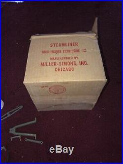 Rare Miller Simons Junior Engineer Steam Engine 100 In Original Box