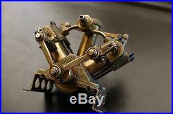 Rare VINTAGE SAITO V4 PR Mini Steam Boat Engine/ ANTIQUE Oscillator Steam Engine