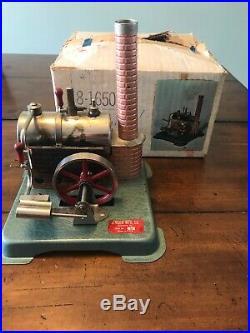 Rare Vintage Jensen Mfg Co Manufacturing Co Steam Engine W Orig Box Style No 60