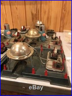 Rare Vintage Marx Linemar Atomic Reactor Toy Steam Engine Collection