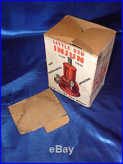 Rare antique toy Electric Steam Engine Little Red Injun- Major Toy Co. Detroit
