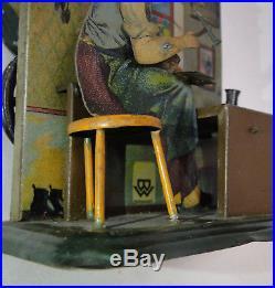 Rare steam engine accessory shoemaker tin toy Bing #1