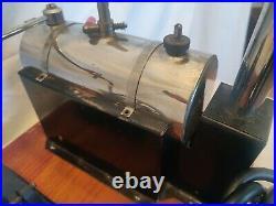 Rare vintage1940s Jensen #5 wooden base Electric Steam Engine, Working. WOW
