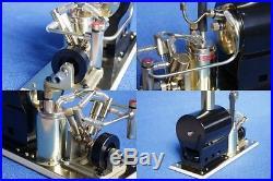 SAITO Steam Engine & Boiler Model Marine Boat Watercraft V2 & OB-1 set Japan