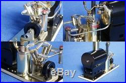 SAITO Steam engine & boiler model marine V2 & OB-1 set New from Japan (1000)