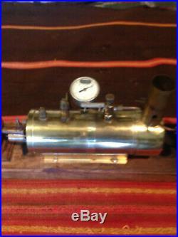 SAITO steam engine and B3 boiler and alcohol burner. Hobby ship builders