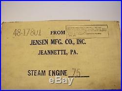 STEAM ENGINE JENSEN MFG. #75 MINT IN BOX GREAT XMAS GIFT